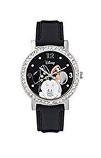 NEW MN1149 Disney Minnie Mouse Ladies Rhinestone Leather Strap Watch
