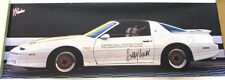 1989 Pontiac Trans Am Indy 500 Pace Car Poster Driver Bobby Unser Signed GM Rare