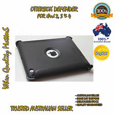 OtterBox iPad 2 3 4  Genuine Defender Case Cover  Black Heavy Duty Tough Strong