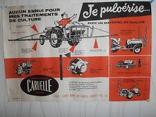 affiche ancienne - tracteur - pulvérisateur - caruelle  ( ref 19 )