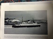 k1-2 ephemera picture 1957 ship invicta III leaving dover