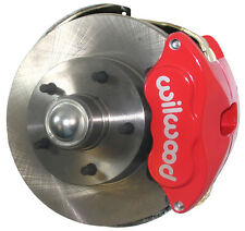 """SWS DISC BRAKE KIT,FRONT,67-69,OE SPINDLES,11"""" ROTORS,RED WILWOOD CALIPERS,LINES"""