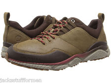Merrell AllOut Defy Mens Size 10 M Brown Suede & Canvas Hiking Oxfords Shoes