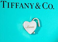 """Splendido Tiffany & Co Argento Sterling NOTE """"MUM"""" Lucchetto Ciondolo SOLO"""
