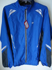 SUGOI Zap Jacket Olympian Blue Mens Large Repels Reflective Shell Cycle Run