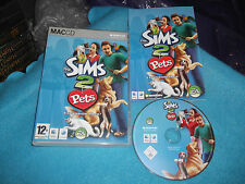 THE SIMS 2 PETS EXPANSION PACK Apple Mac v.g.c. POST VELOCE COMPLETO