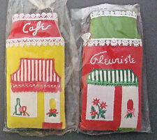 "2 pillow Christmas ornaments 6"" tall village stores Fleuriste & Café"