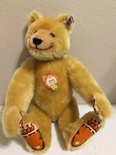 "Steiff Dicky Bear 1930 Replica Jointed Blonde Mohair 12"" 0172/32 1985 Low # 489"