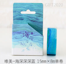 Deep ocean Style Paper Sticky Adhesive Sticker Decorative Washi Masking Tape