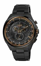 Citizen Eco-Drive Men's AT2187-51E Chronograph Copper Accents Black Watch