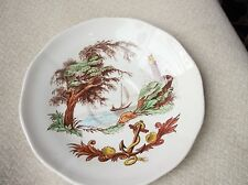 RARE VINTAGE LARGE SAUCER COPELAND SPODE MARITIME ANCHOR LIGHTHOUSE BAY BOAT