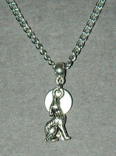 """Silver Wolf Charm Pendant Chain Necklace 16"""" Vampire Full Moon Buy 3, Get 1 FREE"""