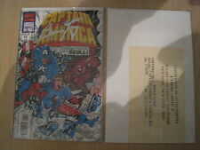 CAPTAIN AMERICA ANNUAL 13 signed / CERTIFICATE by ARTIST BRIAN KONG. MARVEL.1994
