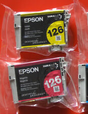 lot of 2 Genuine Epson 126 Ink T126 T1263 T1264 WF 60 630 633 635 840 NX430 330