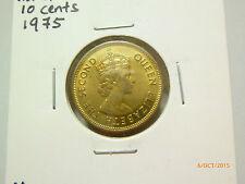 Hong Kong 10 Cents coin (1975) - Lustre UNC/BU
