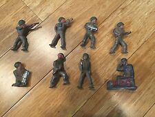 Lot of 8 Cast WW2 WWII Toy Soldiers Lead or Pewter