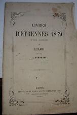 Catalogue livres d'étennes 1869 en vente à la librairie Liard