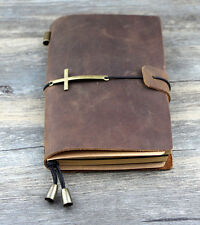 Handmade Vintage Traveler's Notebook Diary Journal Blank Leather Cover  D0510