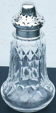 STERLING SILVER & CUT GLASS SUGAR CASTOR - WALKER & HALL SHEFFIELD 1932