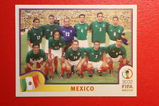 PANINI KOREA JAPAN 2002 # 493 MEXICO TEAM WITH BLUE BACK MINT!!!
