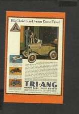 Nostalgia Postcard Advertising Children's Toys Triang Model Cars Christmas 1930