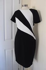 size 14 black and white shift dress from marks and spencer new