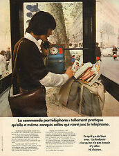 Publicité Advertising 1973  LA REDOUTE vente par correspondance pret à porter