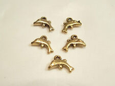 20 pcs x Goldtone Charms : AC272 Dolphin