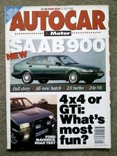 AUTOCAR MAGAZINE 21-JUL-93 - Alfa 164 Super, Ford Maverick, Frontera, Saab 900