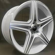 19 inch staggered White Diamond WD-5098 White Custom Wheels 5x112 +35mm Mercedes