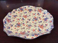 Fabulous Large 1930S Large Chintz Dish By S Ford & Co Burslem
