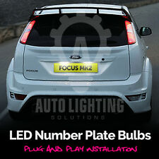 Ford Focus 2004-2008 MK2 Xenon White LED Number Plate Light Bulb Upgrade Kit