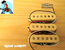 G.M. 62'z Alnico 5 Single Coil Pickup Set (Cream)