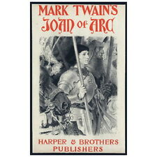 Mark Twain's Joan of Arc Cover Art Deco Magnet, 1894 Eugène Grasset Mini Gift