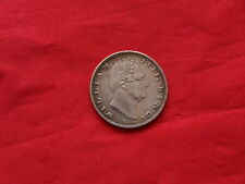 1835 British India William IV One Rupee Silver Coin ( RS Incised ) Good Detail