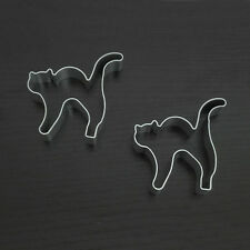 2PC Metal Alloy Halloween Cat Biscuit Cookie Cutter Fondant Cake Decoration Mold