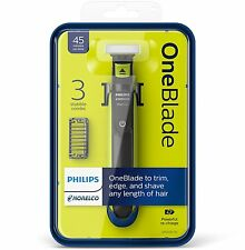 NEW Philips Norelco OneBlade Hybrid Electric Trimmer and Shaver QP2520/70 Men's
