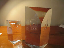 "Lucite Acrylic Owls EAMES ERA Will Hardy WILARDY TWO (2) 4"" and 7"" Grainware"
