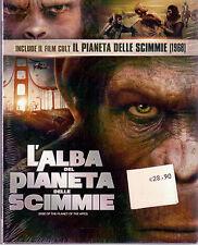 L'Alba Del Pianeta Delle Scimmie + Il Pianeta delle Scimmie (1968) Dvd Sigillato