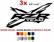 (#536) 3 X Polaris RZR ranger 550 800 1000 team sticker decal emblem