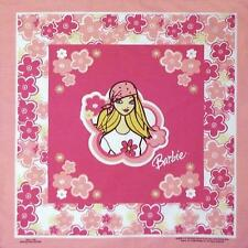 "BARBIE Mattel Fashion Doll Brand Licensed BANDANA HANDKERCHIEF 22"" x 22"" New"