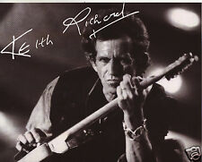 KEITH RICHARDS - ROLLING STONES AUTOGRAPH SIGNED PP PHOTO POSTER