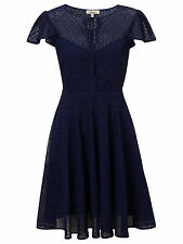 Somerset By Alice Temperley Broderie Dress In Navy - UK 6 (R186)
