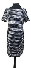PHASE EIGHT Dress Size 10 Blue White Striped Short Sleeve Jumper Tunic NEW w/TAG