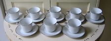 Vintage Mid Century Seyei Fine China Japan Silvermont [Set of 8] Cups & Saucers