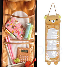 Bear 3 Pockets Closet Door Home Wall Hanging Organizer Storage Stuff Bag Pouch