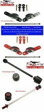 T-Rex Ducati Monster 696 2008 and on frame front rear axle sliders, rear spools