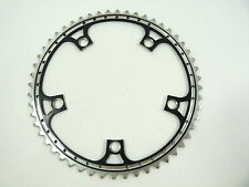 Black Chainring Anodized Rino 52T 144 Bcd Drilled Fits Campagnolo Cranksets NOS