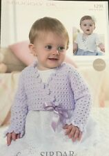 Sirdar DK Baby Girls  Crochet Pattern Ballet Shrug Cardigan Original  NOT Copy