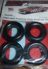NASCAR 1/25 60-64 FIRESTONE CUP TREAD TIRES SET STOCK CAR MODEL PPP 6064F
